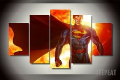 Man Of Steel Multiple Piece Canvas LIMITED EDITION - The Nerd Cave. #prints #printable #painting #canvas #empireprints #teepeat