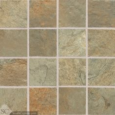 "Franciscan Slate 3"" x 3"" - Woodland Verde Mosaic By SouthCypress.com"