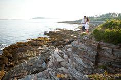 Two Lights State Park, Cape Elizabeth Maine Engagement session | Debbie Harmon Photography