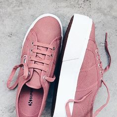 #Superga Flatforms in Dusty Rose  www.superga.com.sg