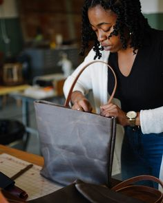 Here's what makes a KMM & Co. tote special! Tote Bags, Leather, Carry Bag