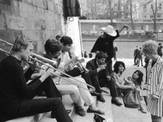 Young Parisian Musicians Enjoying an Impromptu Outdoor Concert on the Banks of the Seine River -  Alfred Eisenstaedt