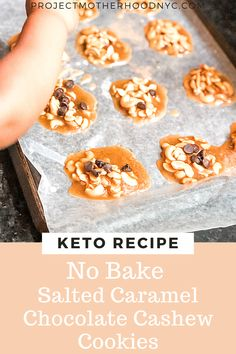 Searching for wonderful no bake keto cookies recipes? If you have little time and don't want to turn on the oven, you'll love these salted caramel chocolate cashew ones! They are one of my favorite keto recipes! #ketodiet #ketorecipe #ketorecipes #nobakecookies #ketocookies Cookie Recipes, Keto Recipes, Healthy Recipes, Salted Caramel Chocolate, Keto Cookies, Searching, Healthy Lifestyle, Oven, Meals