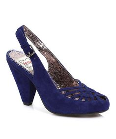 Look what I found on #zulily! Blue Nettie Slingback by Bettie Page #zulilyfinds $34.99, usually 70.00