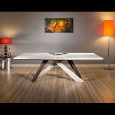 Designer Large 12 Seater White Top Dining / Boardroom Table 240x110cm