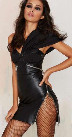 Nasty Gal Big Trouble Vegan Leather Dress