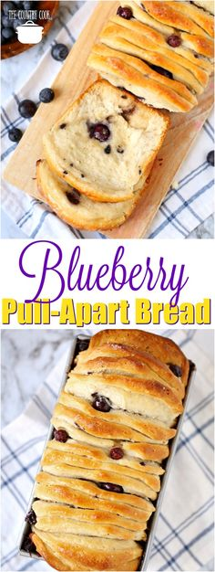 Blueberry Pull-Apart Bread recipe from The Country Cook #biscuits #blueberry #desserts #recipes #ideas #bread