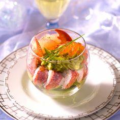 Fraîcheur de homard à l'avocat (Avocat, Ciboulette, Citron vert, Homard, Huile de pépin de raisin, piment d'Espelette)