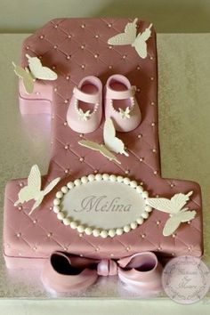 1st Birthday Cake Ideas for Girls number 1 shape