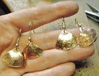 Your First Metalsmithing Project: Create Textured Copper Earrings - Jewelry Making Daily - Jewelry Making Daily