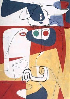 Le Corbusier, Bull III, oil on canvas, 1953