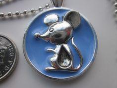 Necklace  Little Mouse Blue  £8.00