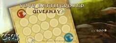 Vote for the best Battleground Design and win 500 Influence! News Design Competitions, Battle, Magic, News, Cards, Maps, Playing Cards