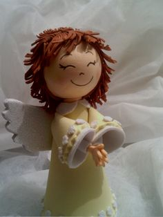 Ángel Types Of Angels, Baby Shawer, Christmas Angels, Diy And Crafts, Homemade, Disney Princess, Disney Characters, Babys, Fantasy