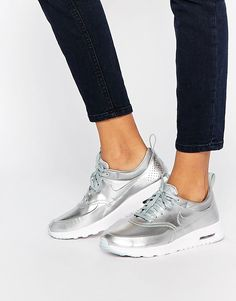Tendance Chausseurs Femme 2017  Nike Silver Air Max Thea Trainers at asos.com