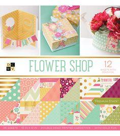 "DCWV 36 Pack 12""x12"" Premium Printed Cardstock Stack-Flower Shop"