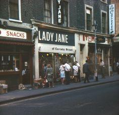 Lady Jane of Carnaby Street, July 1967 Cathy Mcgowan, Swinging London, Carnaby Street, British Prime Ministers, Stylish Suit, London History, Lady Jane, Old London, Vintage London