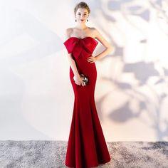 Adorable Fishtail Dress Ideas For Women Sexy Wedding Dresses, Wedding Dress Shopping, Formal Evening Dresses, Winter Dresses, Evening Gowns, Strapless Dress Formal, Bridesmaid Dresses, Dress Winter, Long Dresses