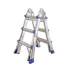 Aluminum Black Heavy Duty Folding Ladder Shelf For Indoor Outdoor QZ/® 3 Step Safety Step Ladder With Handle Color : Black