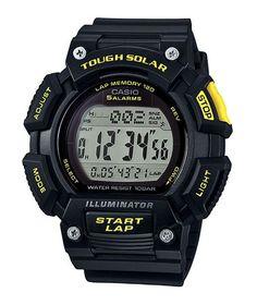 CASIO Mod. STL-S110H-1C SOLAR POWERED Digital. Resin strap. Illuminator. 5 alarms. Lap memory 120 WR 10ATM