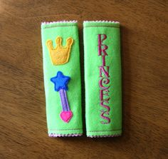Seat Belt Snuggly Princess Embroidery machine applique design. $3.99, via Etsy.