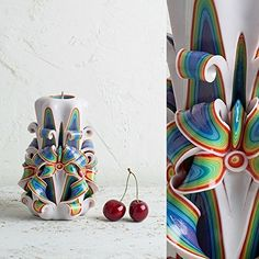 Beautiful candle - Multicolor candle - Carved candle - Unique candle - Unique gift - Hand carved candle - Handmade candle - Rainbow candles by EveArtCandles on Etsy Unique Candles, Beautiful Candles, Handmade Candles, Decorative Candles, Carved Candles, Rainbow Wedding Centerpieces, Candle Centerpieces, Handmade Christmas Gifts, Handmade Gifts