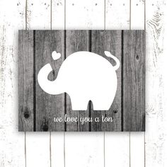 Nursery+Art+Print+Elephant+Art+Typography+by+MooseberryPrintables,+$5.00. Like the silohuette on wood background