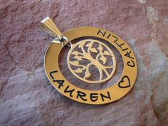 Gold Filed Ring of LOVE with sterling silver tree of life pendant. Beautiful gift idea at only $111.00 from Sweet Sweet Silver. #sterlingsilver #personalisedjewellery