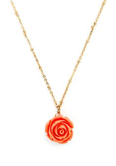 Retro Rosie Necklace. Your fervor for all things retro has you ready and raring to rock this adorable necklace. #pink #modcloth