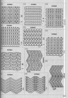 40 Free Crochet Stitches from Daisy Farm Crafts Crochet Stitches Chart, Crochet Symbols, Crochet Shell Stitch, Crochet Motif, Knitting Stitches, Crochet Doilies, Lace Patterns, Stitch Patterns, Crochet Patterns