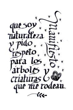 Manifiesto. Calligraphy. Print on Etsy, $10.00