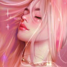 New drawing girl beautiful digital paintings ideas Digital Art Girl, Digital Portrait, Portrait Art, Digital Art Anime, Kawaii Anime Girl, Anime Art Girl, Girl Cartoon, Cartoon Art, Beautiful Girl Drawing