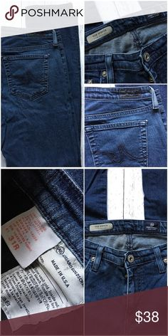 """AG The Stevie slim straight jeans! Size 31R AG The Stevie slim straight jean- women's size 31R dark wash. 30"""" inseam with 9"""" rise. AG Adriano Goldschmied Jeans Straight Leg"""