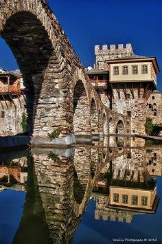 monastery  Stavronikita on Mount  Athos.   AgionOros