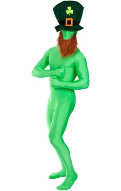 Leprechaun Second Skin. Green CostumesLeprechaun HatsSt Patricks DayMasqueradeFancy  DressSecond ... 2687bfe1b