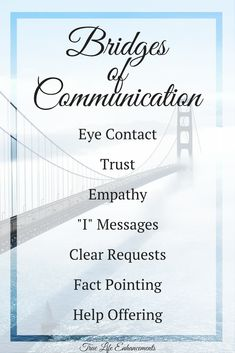 Bridges of Communication | For further information and to purchase workbooks please visit www.truelifeenhancements.com