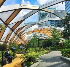 Under the skies #viewpoint #curves #elliptical #optical #illusion #tunnel #gardens #sky #skygarden docklands by wuthecleaner
