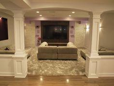 columns ideas basement finishing and basemen remodeling ideas - Finished Basement Design Ideas