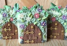 """A Fairy's Home"" Soap! A labor of love 3 days... But man they were worth it…"
