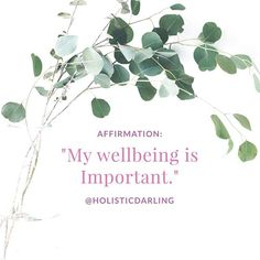 """Repeat after me: """"Me wellbeing is important."""" 🌺It truly is, pour into yourself, so that you can then pour into others. It's good to know be a 🌺 ------------------------------------ These affirmations are from the FREE self-care affirmat Meditation Bowl, Law Of Attraction, Self Care, Beautiful Day, Good To Know, Repeat, Affirmations, Just For You, Mindfulness"""