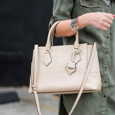 <p>The Wyatt Satchel is the boyfriend jean of designer handbags—a little slouchy, a lot of room, and a whole lot of cool. Crafted with fine pebbled leather and featuring an adjustable and removable strap, this is the next <q>it</q> bag for fashionistas in the know.</p>