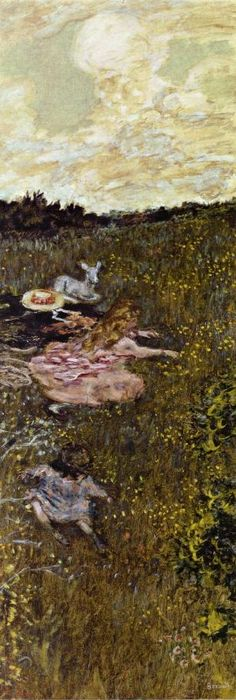 """Pierre Bonnard - """"Children and Kid"""" ca.1899"""