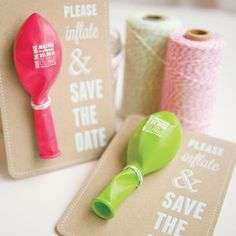 Have your guests join in on the save the date fun!