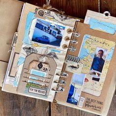Scrapbook Journal, Travel Scrapbook, Ali Edwards, Altered Book Art, Glue Book, Elizabeth Craft Designs, Creative Journal, Handmade Journals, Planner Pages
