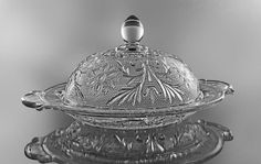 Butter Dish Anchor Hocking Clear Sandwich by MountainAireVintage