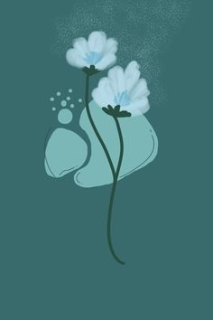 Aesthetic Floral Wallpaper | Floral illustration | @theinkblog