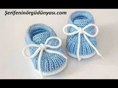 Gestrickte Booties, Knitted Booties, Baby Knitting Patterns, Baby Patterns, Crochet Patterns, Free Crochet, Knit Crochet, Hair Rubber Bands, Baby Converse