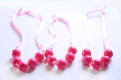 bubblegum necklace, but think rainbow beads would be super cute