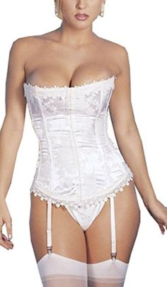 Blidece Women Strapless Ivory Bridal Fashion Corset Lingerie Wedding Dress Bustier - Brought to you by Avarsha.com