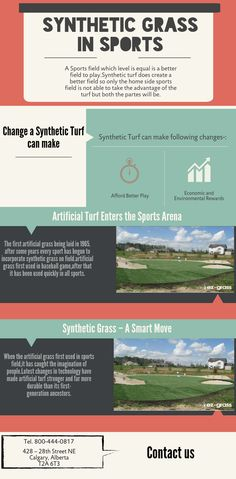 Synthetic Grass for Sports Field is using on a huge level because it provide a flat field and injury free pitch to players. use of synthetic grass started from 1965 first    for a baseball field.and after that it was used for every kind of sports field.